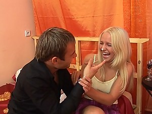 Sexy teen Brittney first anal quest