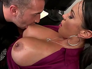 Perverted Boss Fucking The Busty Brunette Mariah Milano in the Office