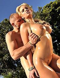 Outdoor anal sex pornstar