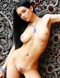 Katie Fey - Stunning breasts on the slender nude model