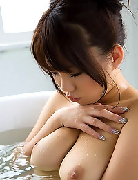 Japanese girl strips from panties