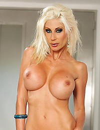 Pornstar models shiny bikini