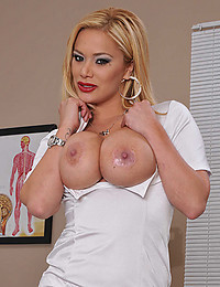Golden Haired Nurse Shyla Exposes All