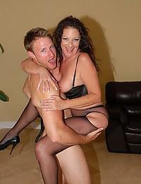 Stockings milf loves sex
