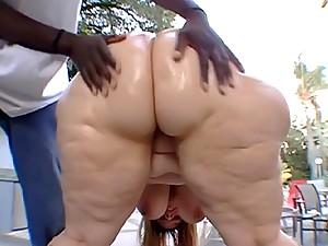 Big ass fat woman rides black dick