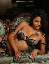 Glamorous bra on a beauty