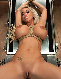 Bondage and hard sex for slut