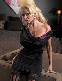 Busty Blonde Beauty Nikita Exposes All