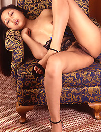 Young Asian solo hairy pussy