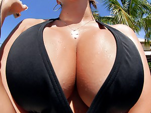 Two Busty Babes Share A Cock