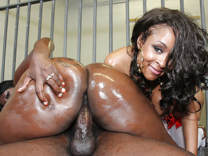 Ebony Jailbirds Get Hard Banging