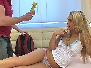Hot teen Lucie gets her first anal