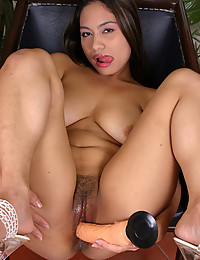 Asian pussy loves a toy