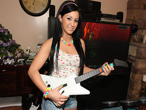 Porn Pros Network - Jackie is an awesome 18 year old slut! She came over to play some strip Porn Pros Rock Hero videogame! When she started undressing, she noticed the game wasn't the only thing that was hard, she got on her knees and started rocking the
