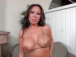 Jasmine the hot Asian girl gives great deepthroat blowjob