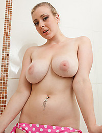 Busty Megan Takes Steamy Shower
