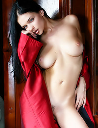 Katie Fey - Chick in a satin robe hoping to show off for you