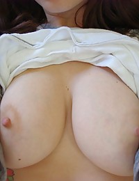 Ivy Snow gets naughty and decides to do a strip tease and masturbates up close and personal