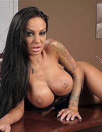 Busty Angelina Spreads Her Twat