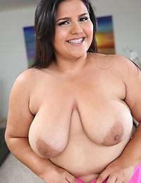 Cute fatty in lingerie