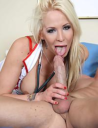 Horny Blonde Nurse Treats Patient