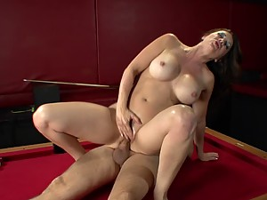 Raquel DeVine Plays with a Stiff Stick