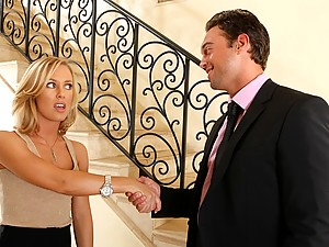 Blond Stunner Nicole Dominates Man