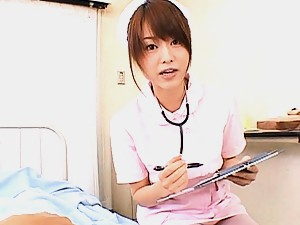 Akiho Yoshizawa?s patient needs some hot nurse blowjob action
