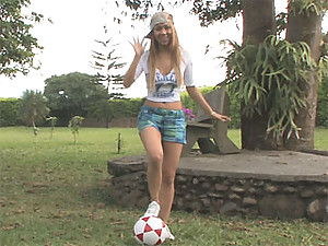 Tania Spice is your sexy masturbating soccer star