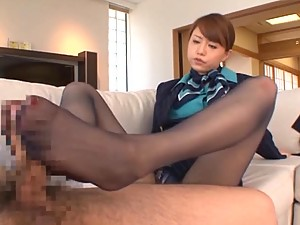 Akiho Yoshizawa Rdes A Boner Before Going To Work With Her Suit On