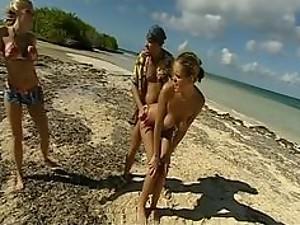 monica lion in beach