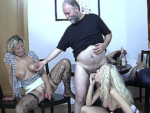 His mom and dad give his girlfriend a welcome to the family with a deep and hard fuck