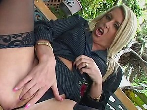 Horny Blonde MILF on Lingerie Fucks For A Facial In POV Vid