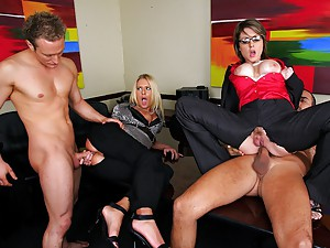 Riley Tastes Partners Cock