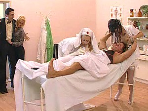 Smoking Hot Nurses Have A Threesome With A Horny Patient