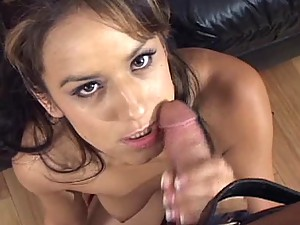 Big Cock Banging and Facial For Kinky Brunette Nadia Styles