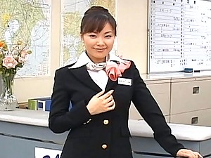 Yua Aida hot stewardess ready to fuck these air pilots