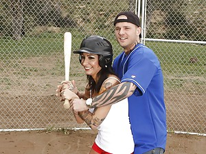 Happy Ricki Fucked On Baseball Diamond