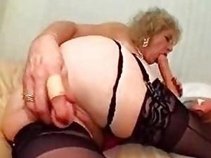 Granny kinky dildo fetish
