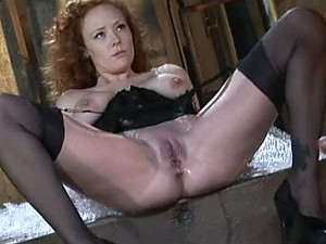 Busty Dominatrix Audrey Hollander Shaves Her Slave Before Anal Sex