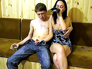 This boozed cutie can't control her libido - she wants to fuck!