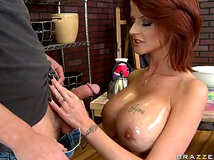 Horny Tattooed MILF Joslyn James Gets Fucked and Jizzed On Her Boobs