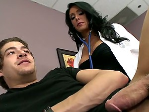 Busty Doctor Jessica Jaymes Takes Up The Stethoscope And Fucks