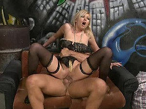Blonde Donna Bell Gets Fucked Hard In Her Sexy Black Lingerie