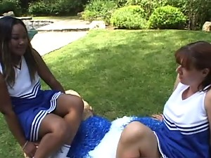 Chubby Cheerleader Gets Fucked Outdoors