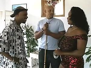 Massive Boobed Ebony Fucks Big Cock