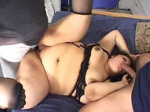 BBW And Asian Friend Get Banged in Foursome
