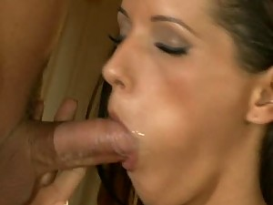 Gorgeous Angel Dark Swallows Cum After Getting Fucked in The Kitchen