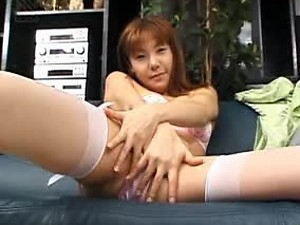 Asian Beauty Haruka Matsui In Stockings Has A Creampie Threesome