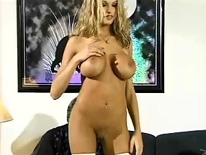 White Stockings Awesome Blonde Gets Analized
